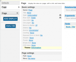 The Drupal Views Admin Interface