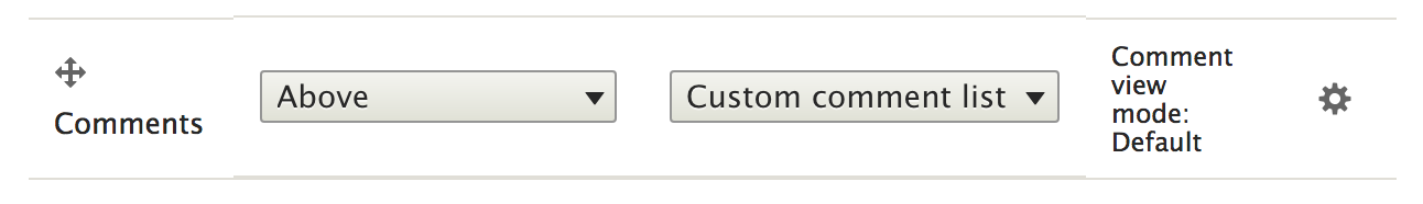 Custom comment formatter selection in Drupal 8 content type.