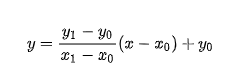 Bresenham's line algorithm equation