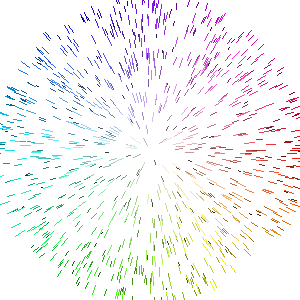 Color wheel using lines.