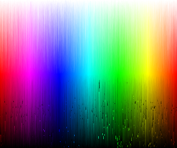 Colors, segmented by hue, saturation and value, sorted by HEX.