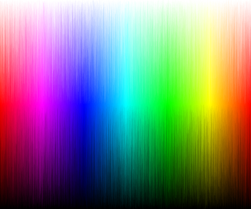Colors, segmented by hue, saturation and value and then sorted by saturation and value.