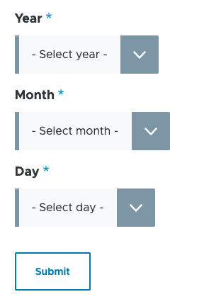 Date picker select elements in Drupal 9