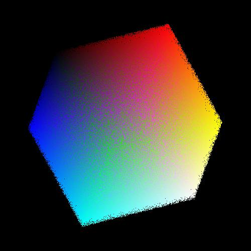 2.5 million colors in a cube.