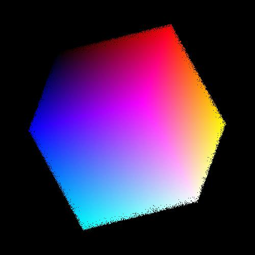 2.5 million colors in a cube, sorted.