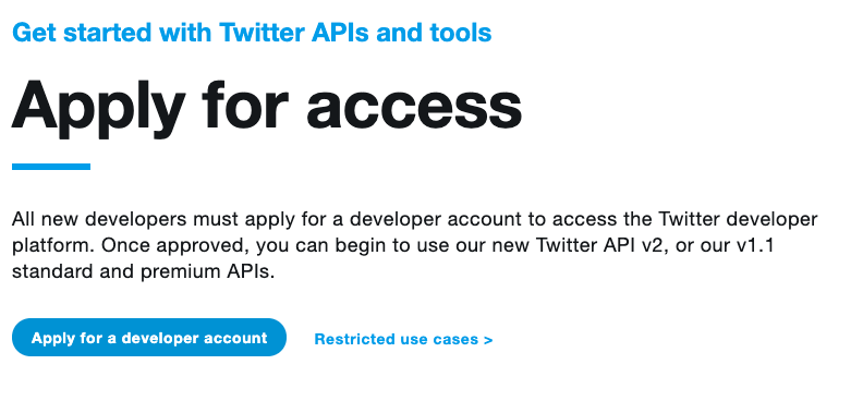 Twitter API Apply Part 2
